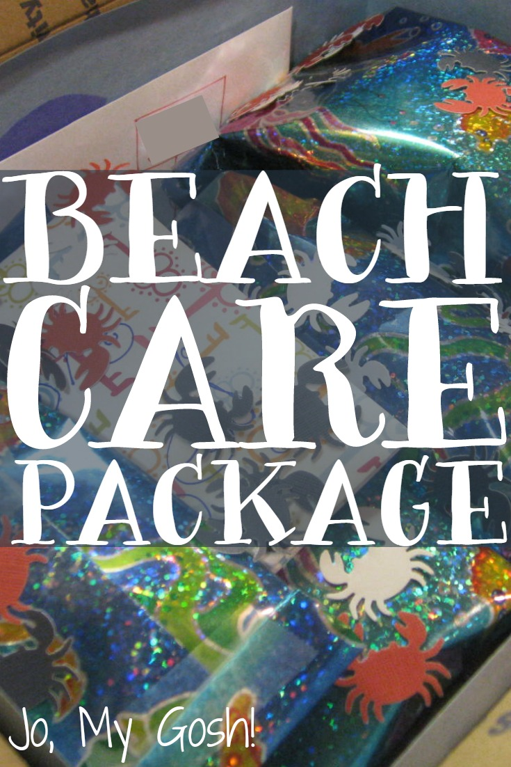 Make a care package with a beach theme to bring the surf and sun to a loved one.