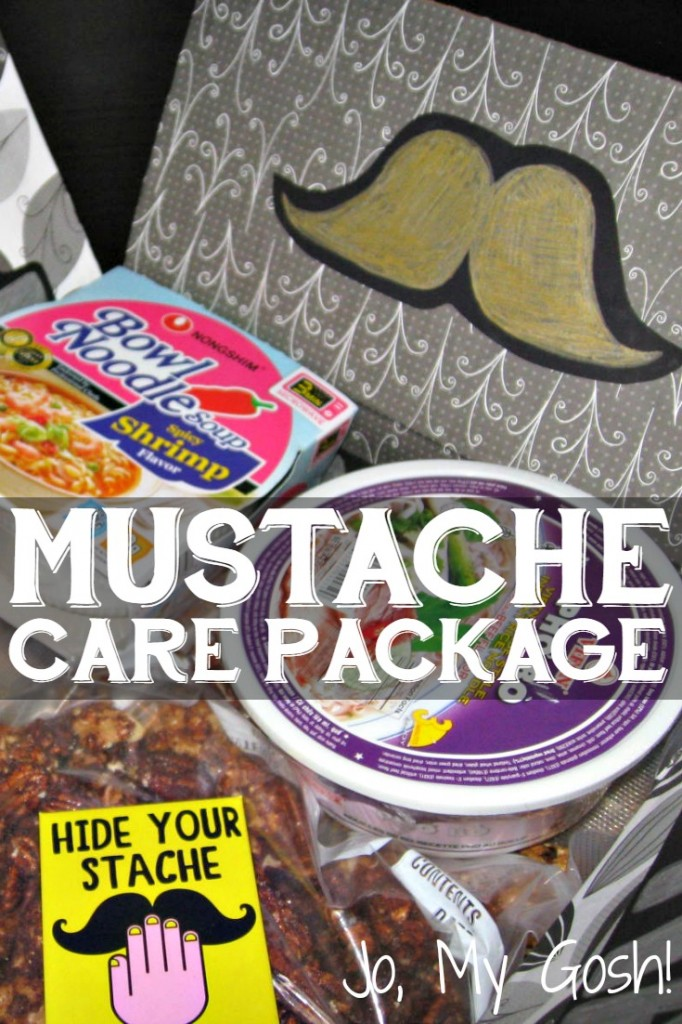 Create a mustache care package for a manly man or Movember.