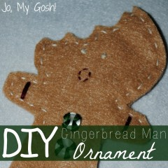 Alternative gingerbread man felt ornament-- tutorial and pattern are linked!