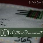 DIY Letter Ornament