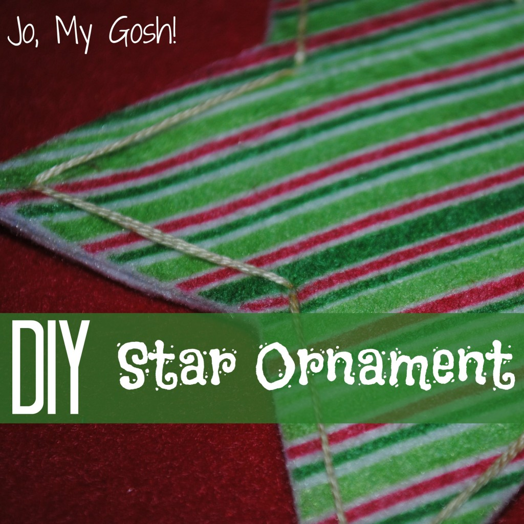 Felt star ornament-- tutorial and template included.