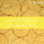 Spring Fling, Day 3: Low-Cal Lemon Cornbread Cookies