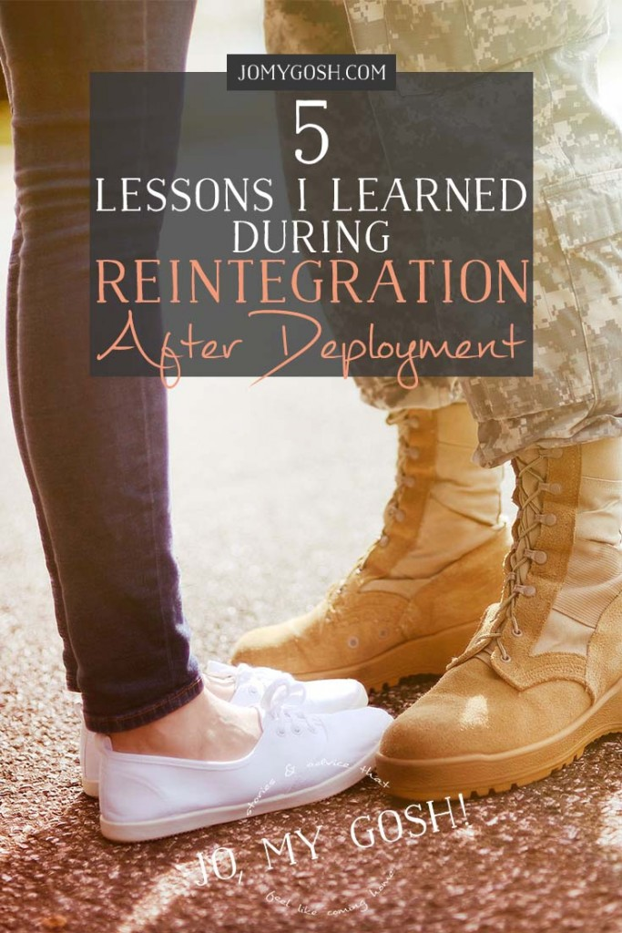 The time after homecoming is called reintegration. Strategies for thriving during this time from someone who experienced it.