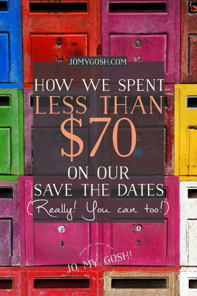 Steps on how to save a lot of money on wedding save the dates from someone who really did it!