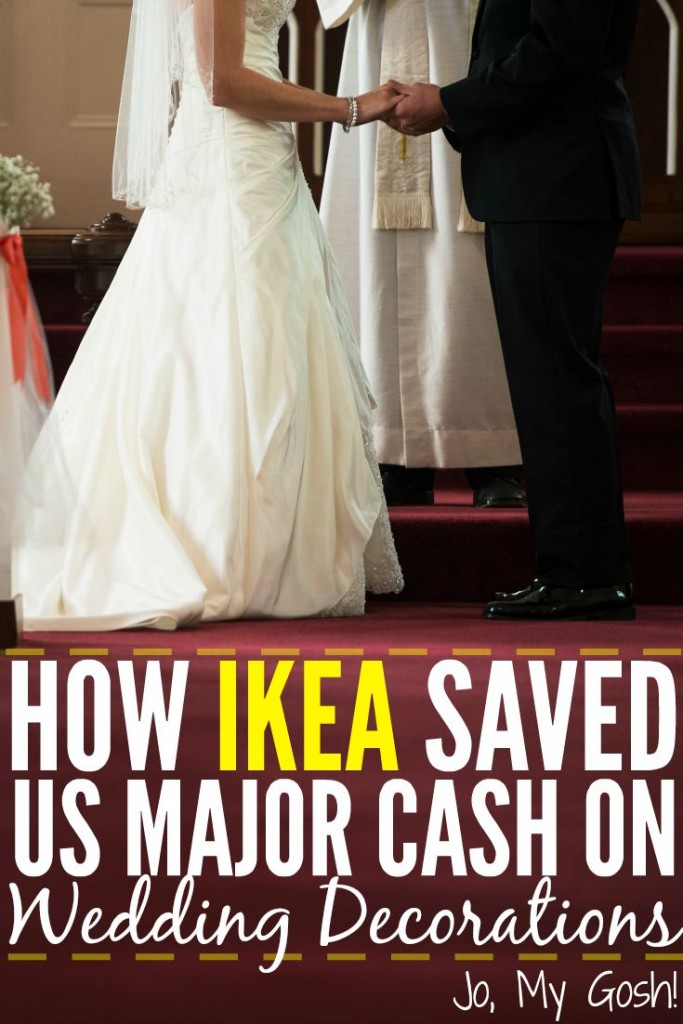 We saved a lot of money on our wedding just by using common items found at IKEA!