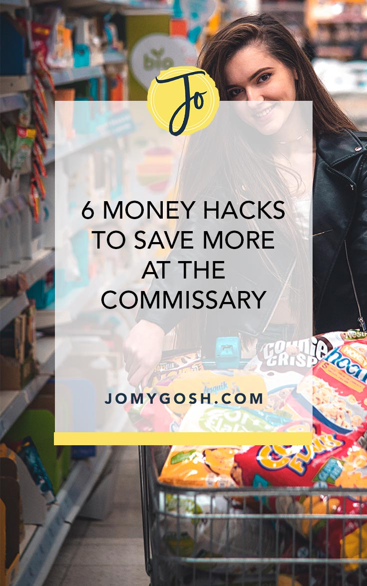 Shopping at the Commissary? Make sure you're stretching your dollar with these brilliant hacks. #military #militarylife #savingmoney #discounts #militarydiscount #discount #jomygosh #army #navy #shopping #airforce #marines #coastguard #arng #reserves #nationalguard #milfam #moneytips #groceryshopping #groceries