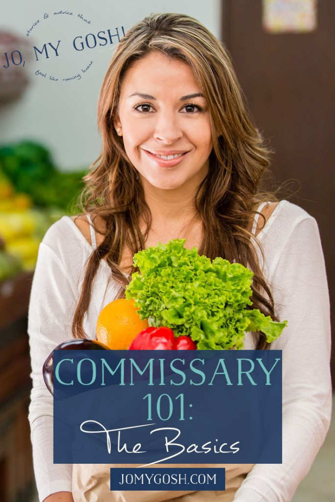 """I didn't know about tipping baggers! """"Venturing into the Commissary and Exchange was really intimidating to me when we first got married (let's remember that I get nervous just going onto base). It's a bit intimidating anytime you try doing something that has specific rules and regulations. And believe me, going to the Commissary is not like going to another grocery store."""""""