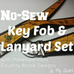 No-Sew Key Fob and Lanyard Set DIY