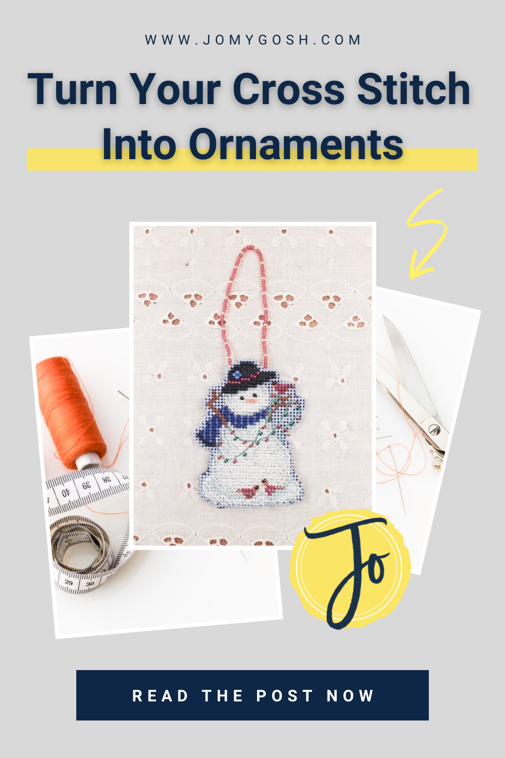 Here's an easy and no-sew way to turn cross stitch into ornaments. #crafting #crafts #crossstitch #needlework #embroidery #sewing