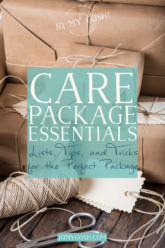 Everything you need on hand to create a care package.