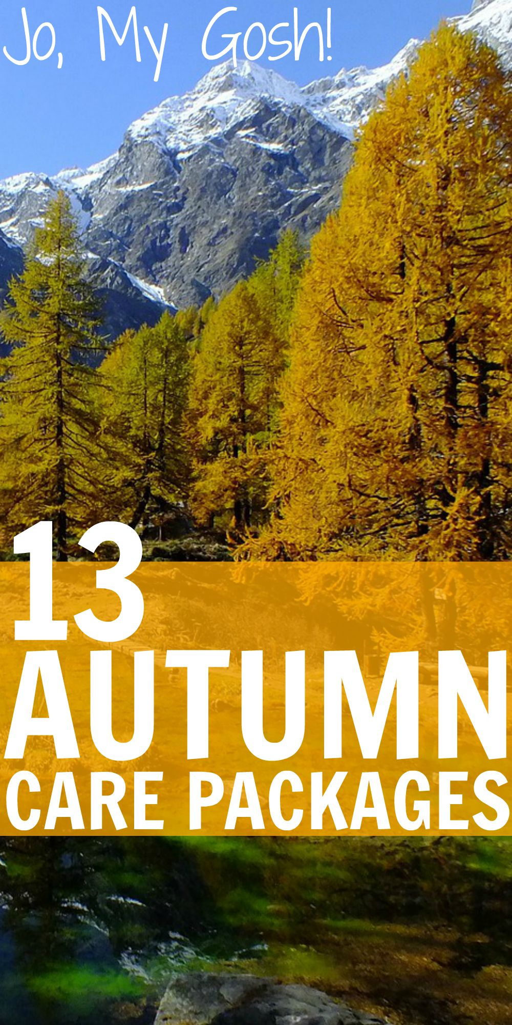 13 care packages for autumn. Fall recipes, DIYs, and gifts included!