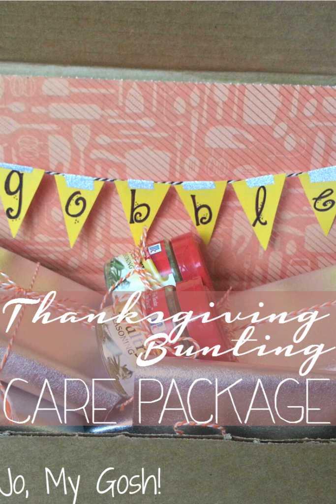 Thanksgiving bunting care package idea