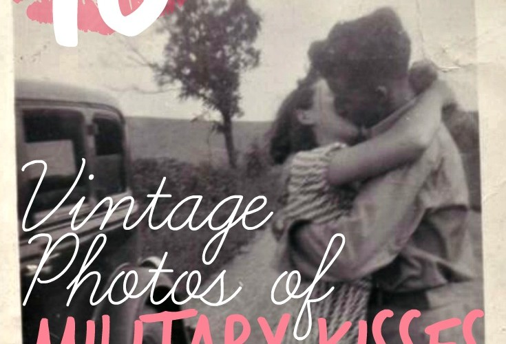 A gallery of military kisses-- vintage, romantic, and wonderful!