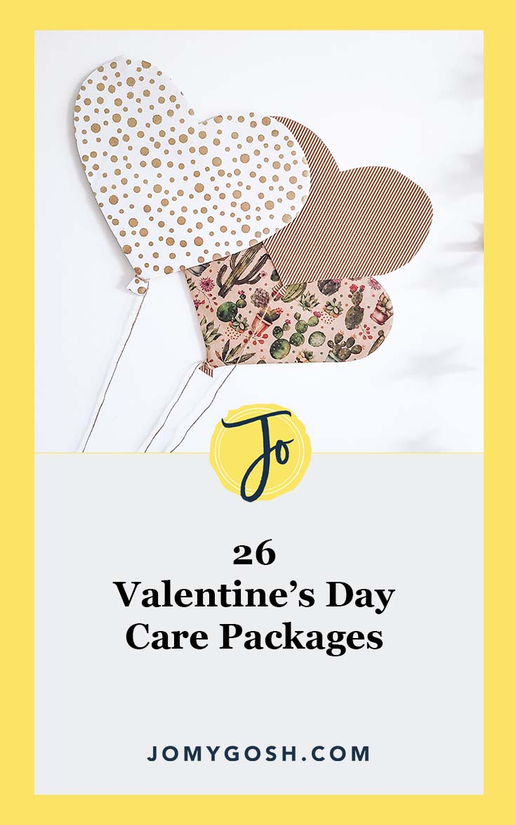 Use these #ValentinesDay care package ideas this #February. #deployment #ldr #longdistance #longdistancerelationship #military #missionary #crafts #jomygosh #valentine #army #navy #airforce #marines #arng #reserves #militaryspouse #milspouse #milso #milsos #milspouses