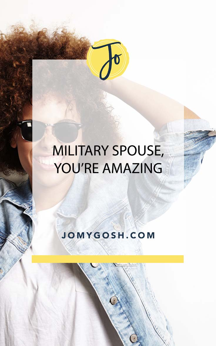 Sometimes it just doesn't feel that way... but military spouse, you're amazing. #militaryspouse #milspouse #milso #milsos #milspouses #militaryspouses #inspiration #military #milfam #militaryfamily #navy #army #airforce #marines #coastguard #reserves #nationalguard #ng