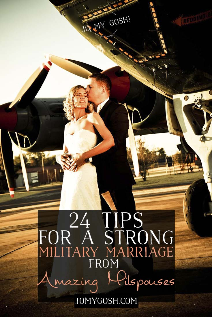 Strong military marriages are important! Love this advice from military spouses who have been there, done that