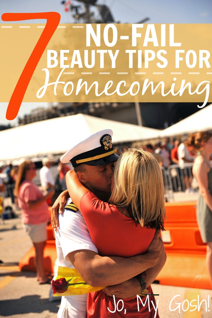 Saving for getting ready for homecoming, beauty and planning tips for milspouses