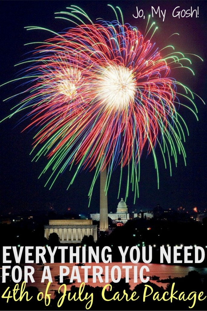 Tons of care package ideas-- love all the inspiration for 4th of July!