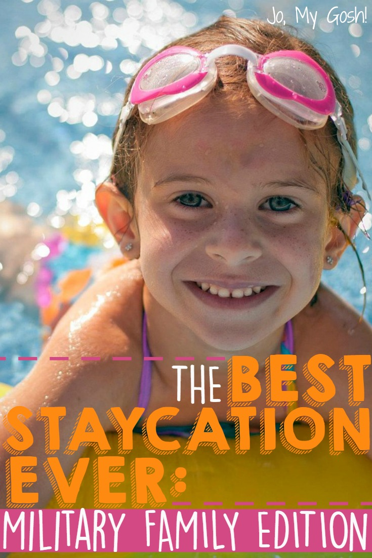 Money saving tips, ideas for how to plan a staycation for military families. Milspouse, milfam