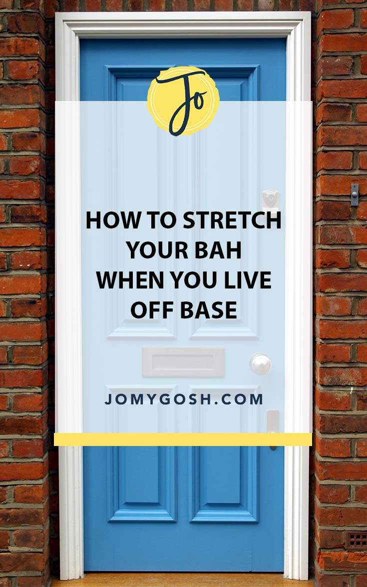 Save money and live within your means with these home tips for when you live off base. #military #savingmoney #militaryfamily #milfam #milspouse #militaryspouse #budget #budgeting