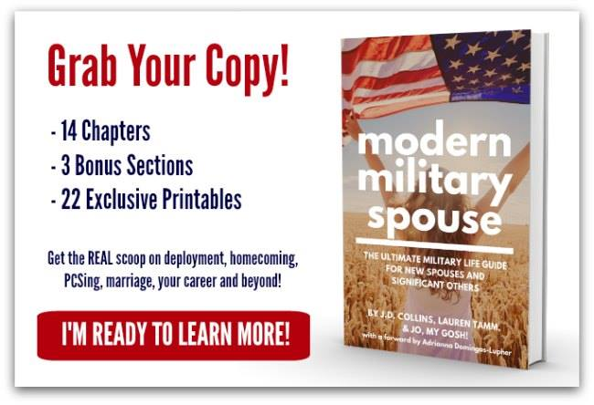A handbook/guide for military spouses, written by spouses!