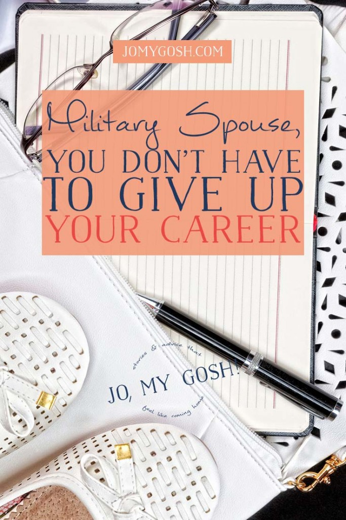 We need to have honest, supportive conversations about a very real part of life that is so very difficult for so many spouses because taking care of your career is tough in the military lifestyle.