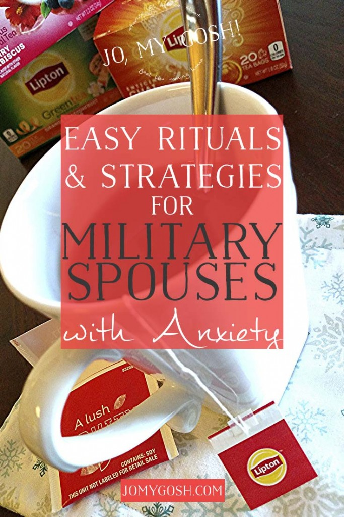 A few ways I've learned to deal with anxiety as a military spouse.