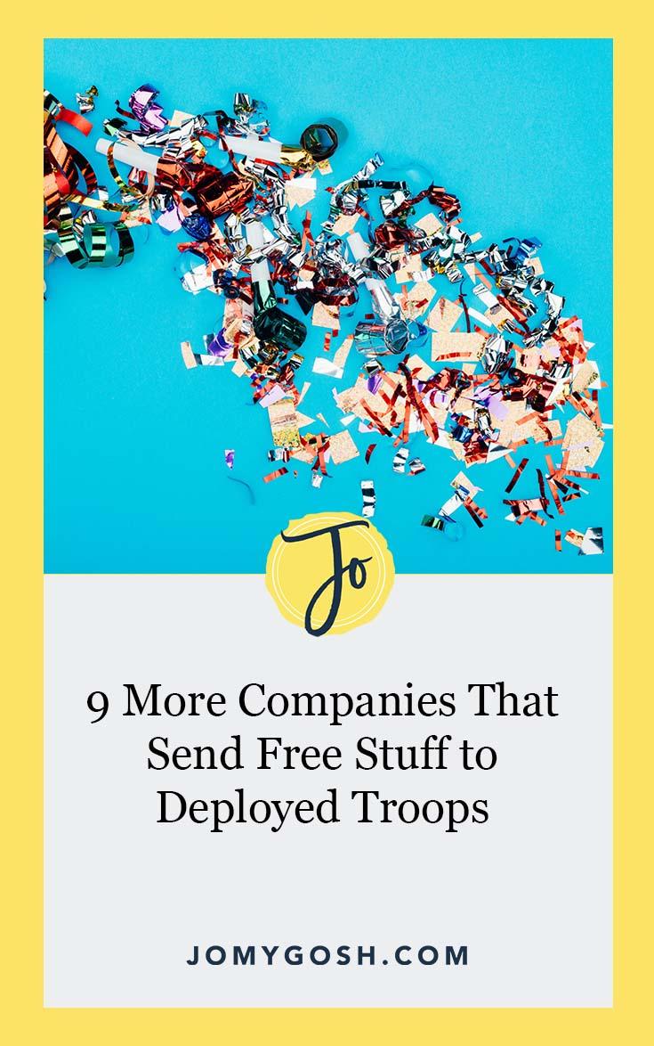 Here's how to grab #free stuff for your deployed service member's next care package. #freebies #carepackage #carepackages #jomygosh #happymail #military #soldier #militaryfamily #milfam #milspouse