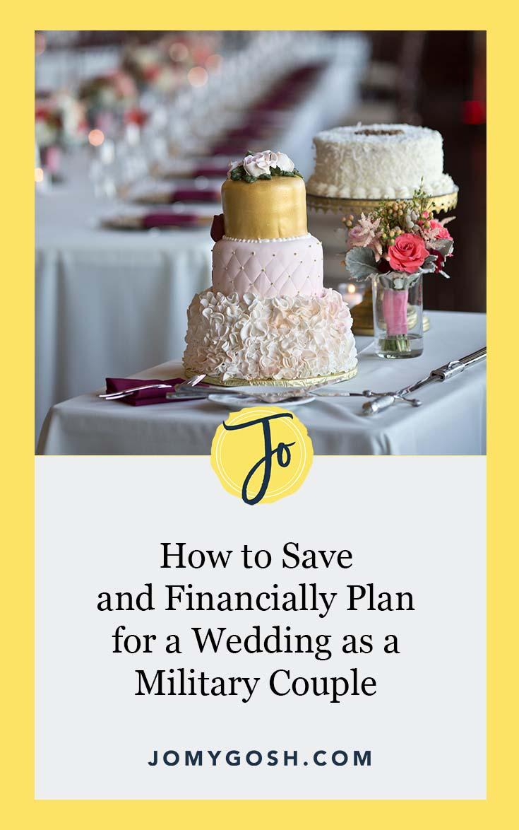 Weddings are expensive. Get started planning for it now. #wedding #weddingplanning #budget #weddingbudget #savingmoney #budgeting #military #militarywedding #militarycouple