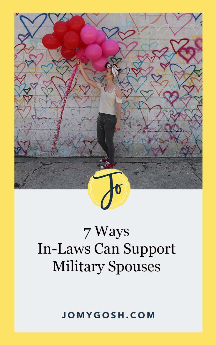 Mother-in-law or father-in-law of a military spouse? Here's how you can support them (for real). No judgment either. Just help from military spouses. #milspouse #military #militaryspouse #inlaw #inlaws #jomygosh #relationship #relationshipadvice #family #familydrama #army #navy #marines #airforce #coastguard #ng #reserves #arng