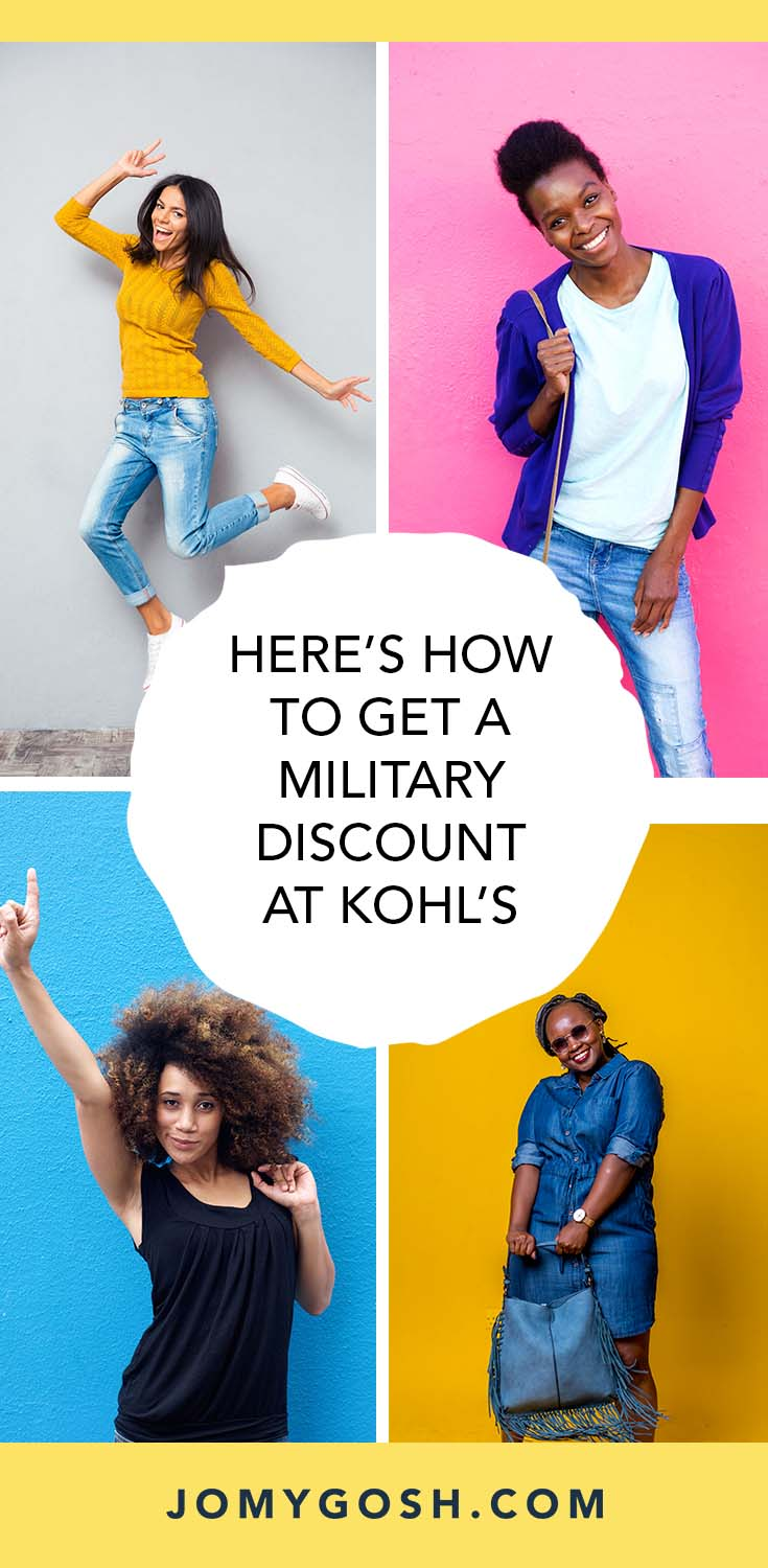 Here's how you can get a military discount at Kohl's a save big. #discount #savings #saving #military #militarydiscounts #discounts #savingmoney #jomygosh #militaryfamily #milspouse #militaryspouse #militarywife #veteran #veterans #veterandiscount