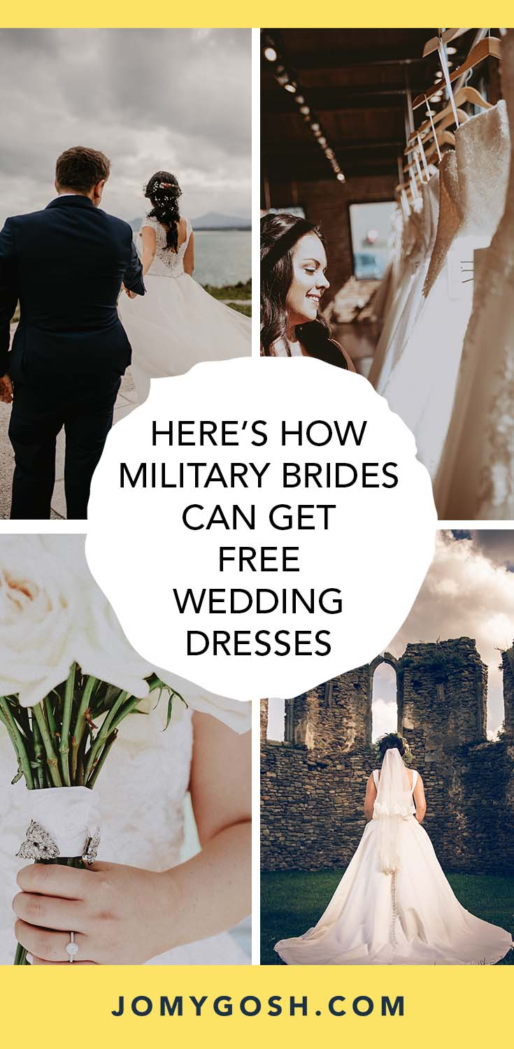 Weddings are expensive. And military weddings sometimes come with even more financial restraints. #wedding #weddingdress #free #freebies #military #militarybride #bride #brides #militarydiscount #militarygirlfriend #freestuff #militarydiscounts #armywife #navywife #marinewife #weddingtips