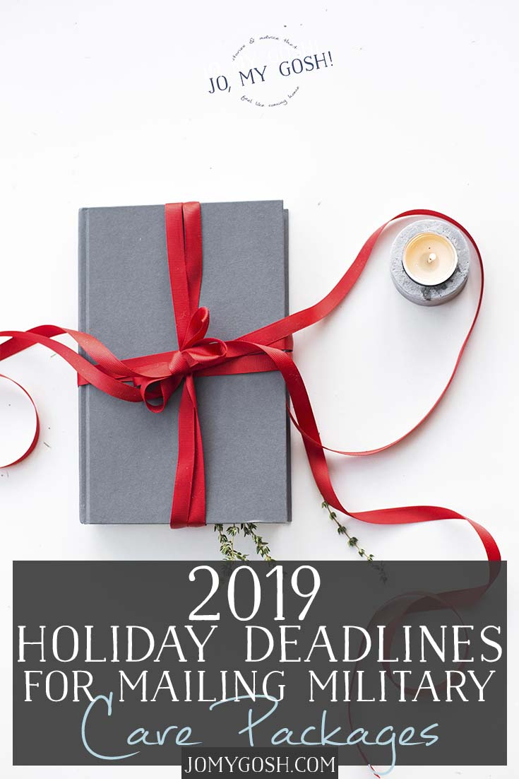 2019 USPS holiday deadlines for military care packages.