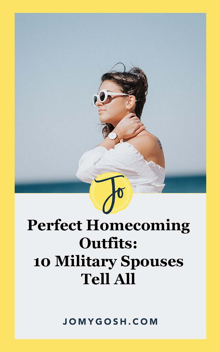 Not sure what to wear for #homecoming? Check out these tried and true options from real #militaryspouses. #military #milfam #militaryfamily #deployment #army #navy #airforce #marines #coastguard #arng #reserves #milso #fashion #milsos #milspo #milspos