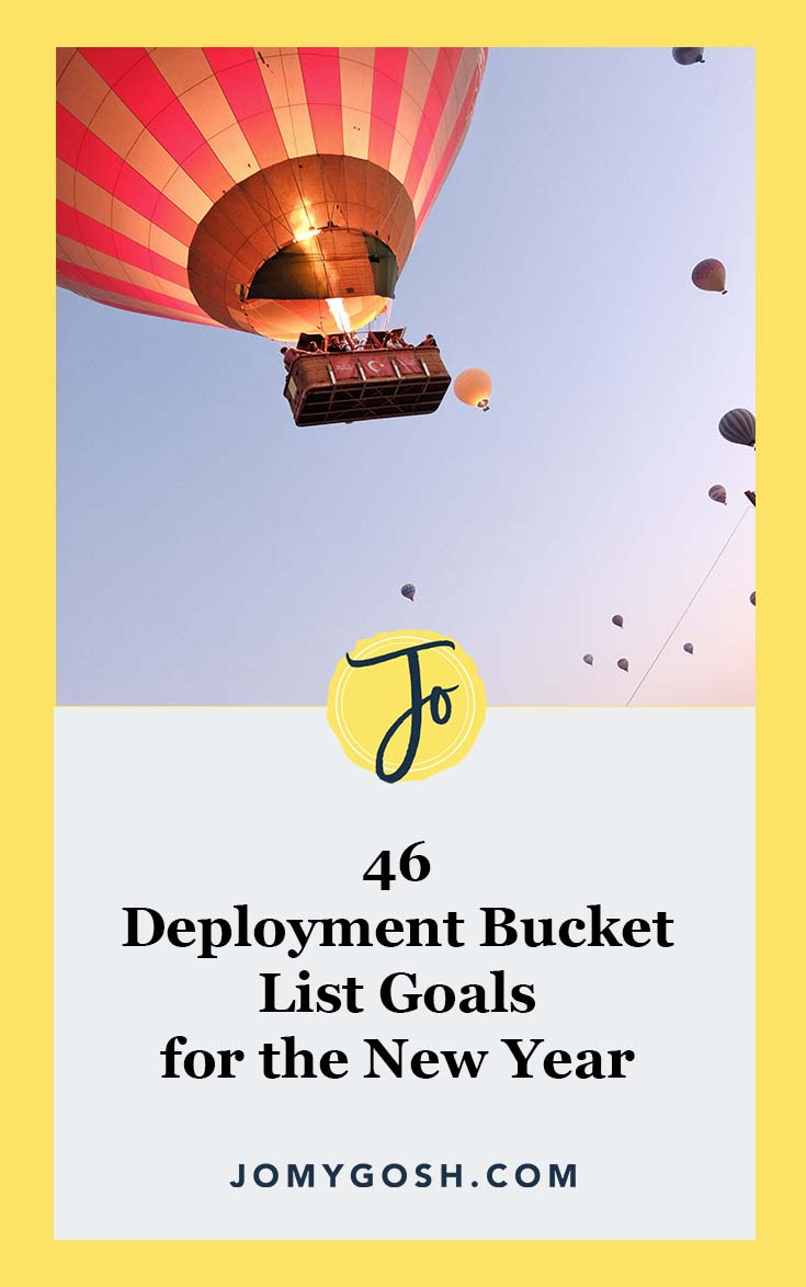 Add these #deployment goals to your #bucketlist. #newyear #newyears #resolutions #goals #military #navy #milspouse #milspouses #jomygosh #milso #milsos #milspo #milspos #army #arng #coastguard #ldr #deployment #airforce #marines #ldr #longdistance #longdistancerelationship #advice