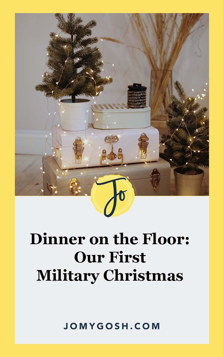 Here's how our first #military #christmas went down. Spoiler alert: we didn't have a table.