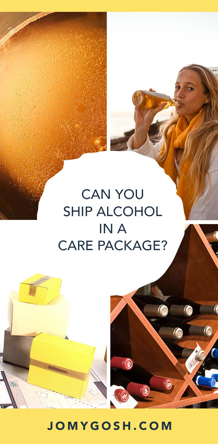 Wine... beer... spirits... is it possible to send alcohol in a care package? Here's what you need to know before you send. #military #carepackage #deployment #jomygosh #alcohol #wine #beer #carepackages #happymail #militaryfamily #milfam #milfams #milspouse #milspouses #army #navy #airforce #marines #coastguard #arng #reserves #nationalguard #carepackagetips