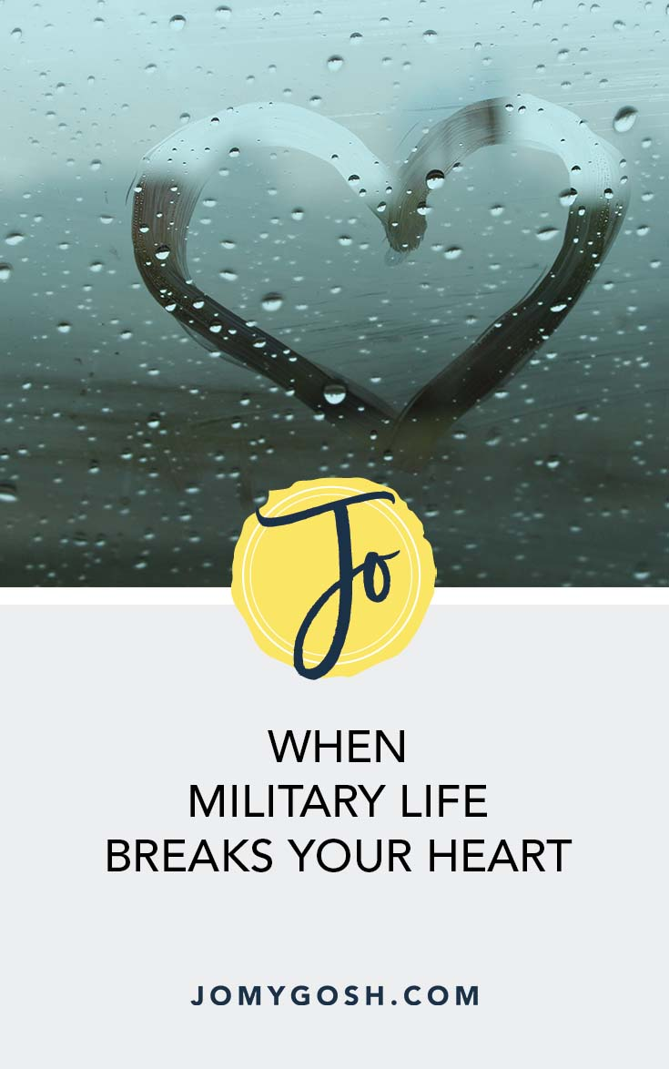 """""""There has never been a year on this journey that the military hasn't caused me, my kids, or my spouse some form of heartbreak. And that's okay."""" #military #militarylife #milspouse #militaryspouse #jomygosh #milspouses #milso #milsos #milspo #milspos #army #navy #airforce #marines #coastguard #arng #reserves #nationalguard #deployment"""