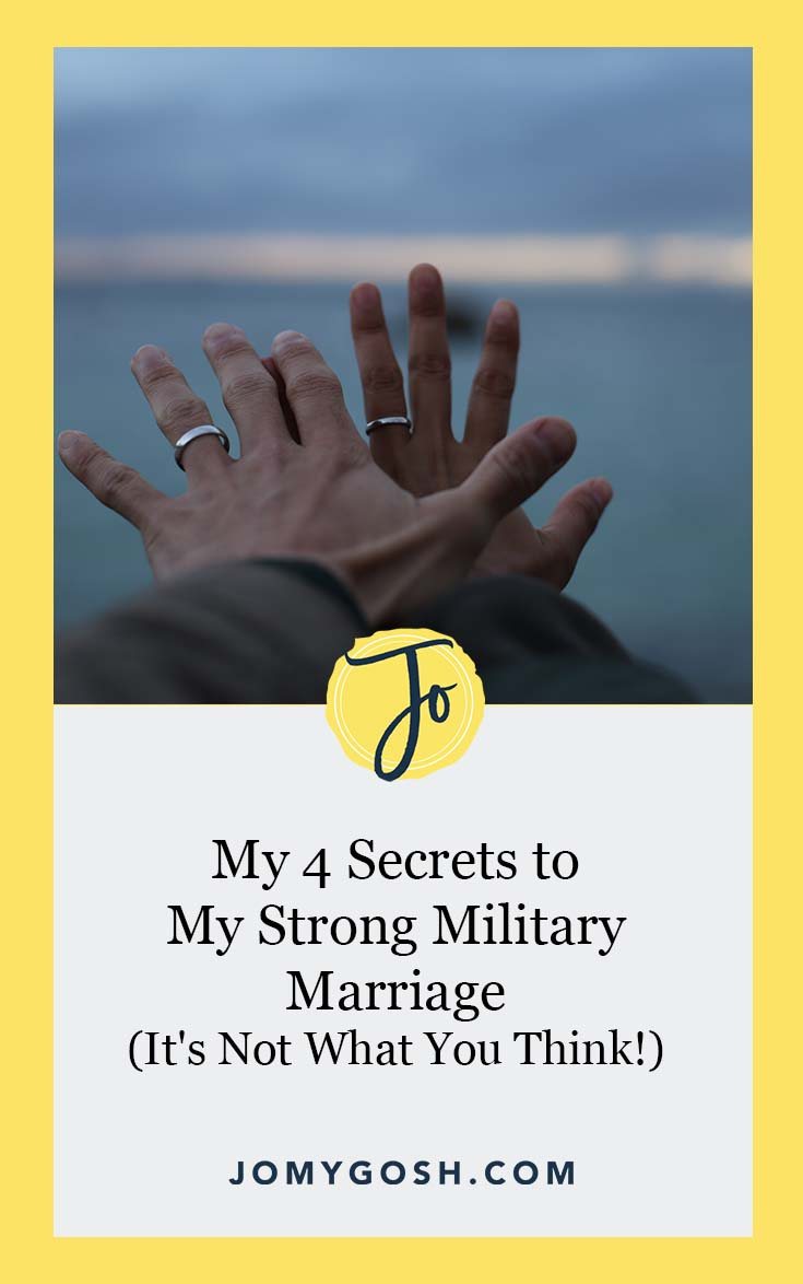When you think about a strong marriage, in or out of the military community, what does it look like? #militaryspouse #marriage #military #milspouse #milso #milspo #advice #jomygosh #wedding #relationship #ldr #longdistance #longdistancerelationship