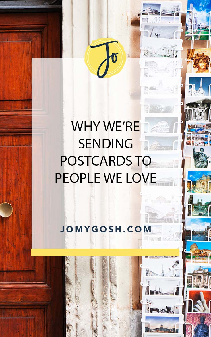 Love sending mail? Here's why postcards are perfect. #miiltaryfamily #happymail #jomygosh #send #carepackage #carepackages #postcard #writing #letters
