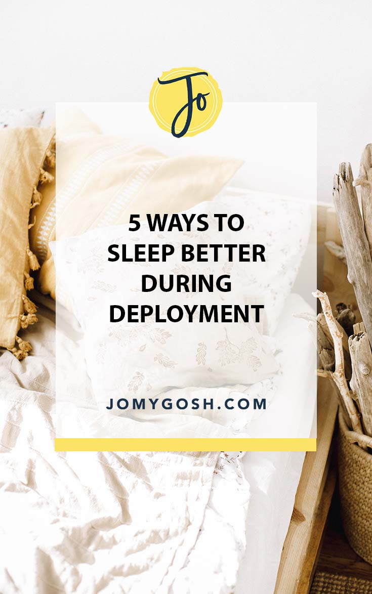 One out of every three military-connected people reports poor sleep. Use these ideas to get some quality zzzs. #military #milfam #sleep #advice #ldr #longdistance #longdistancerelationship