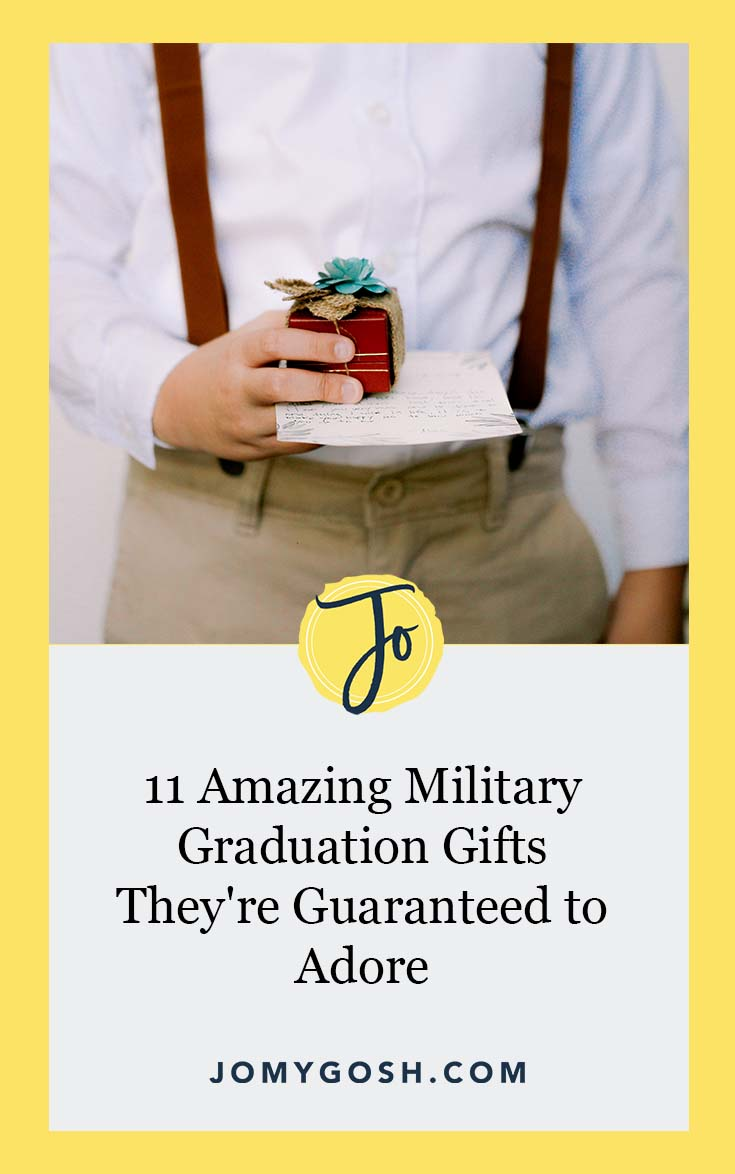 Don't be empty-handed. Here are the perfect gifts for each kind of military graduation. #milfam #gift #militaryfamily #milspouse #milso #milspo #militaryspouse #militaryso #milspouses #milsos #army #navy #airforce #marine