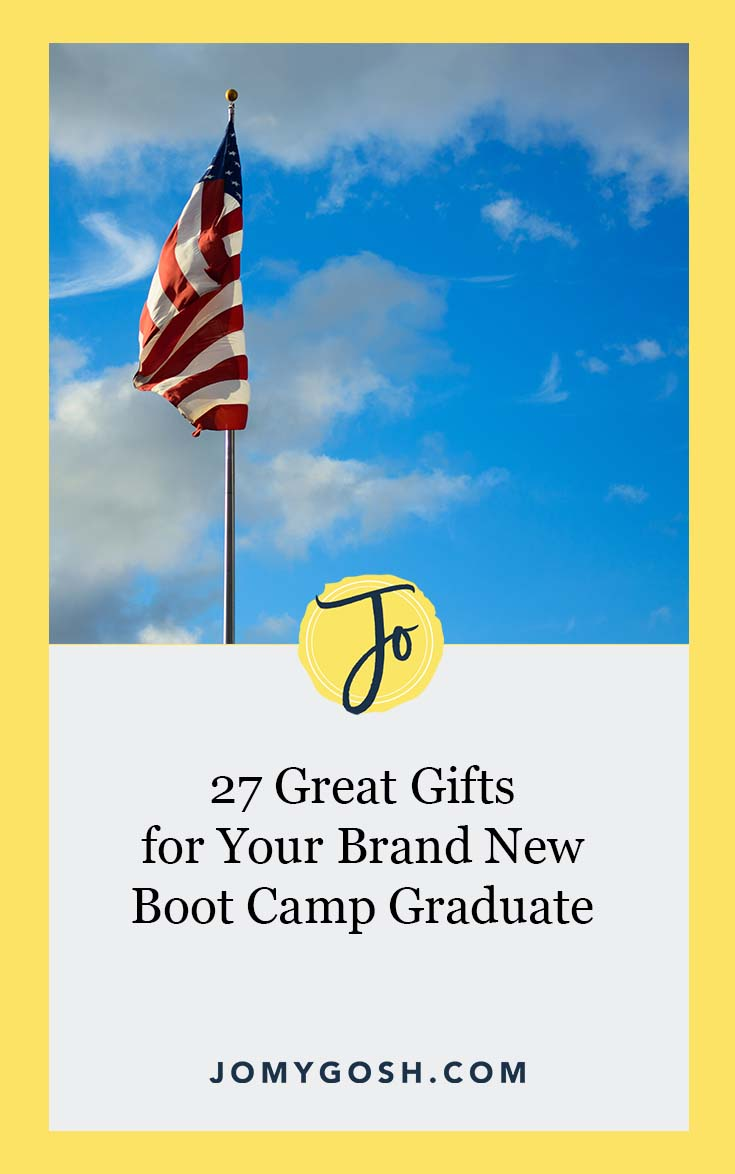 These gifts are tried, true, and perfect for new graduates starting out their military careers. Grab the list and keep it handy. #military #bootcamp #gifts #carepackage #gifting #presents #milfam #milspouse #parents