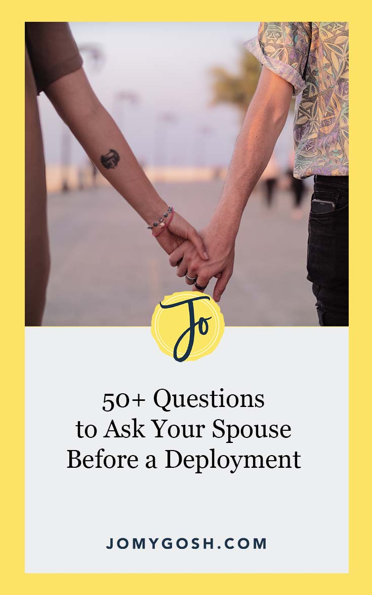 Keep these questions handy for the next deployment. #military #milspouse #deployment #milfam #militaryfamily #questions #organization #organizing #communication