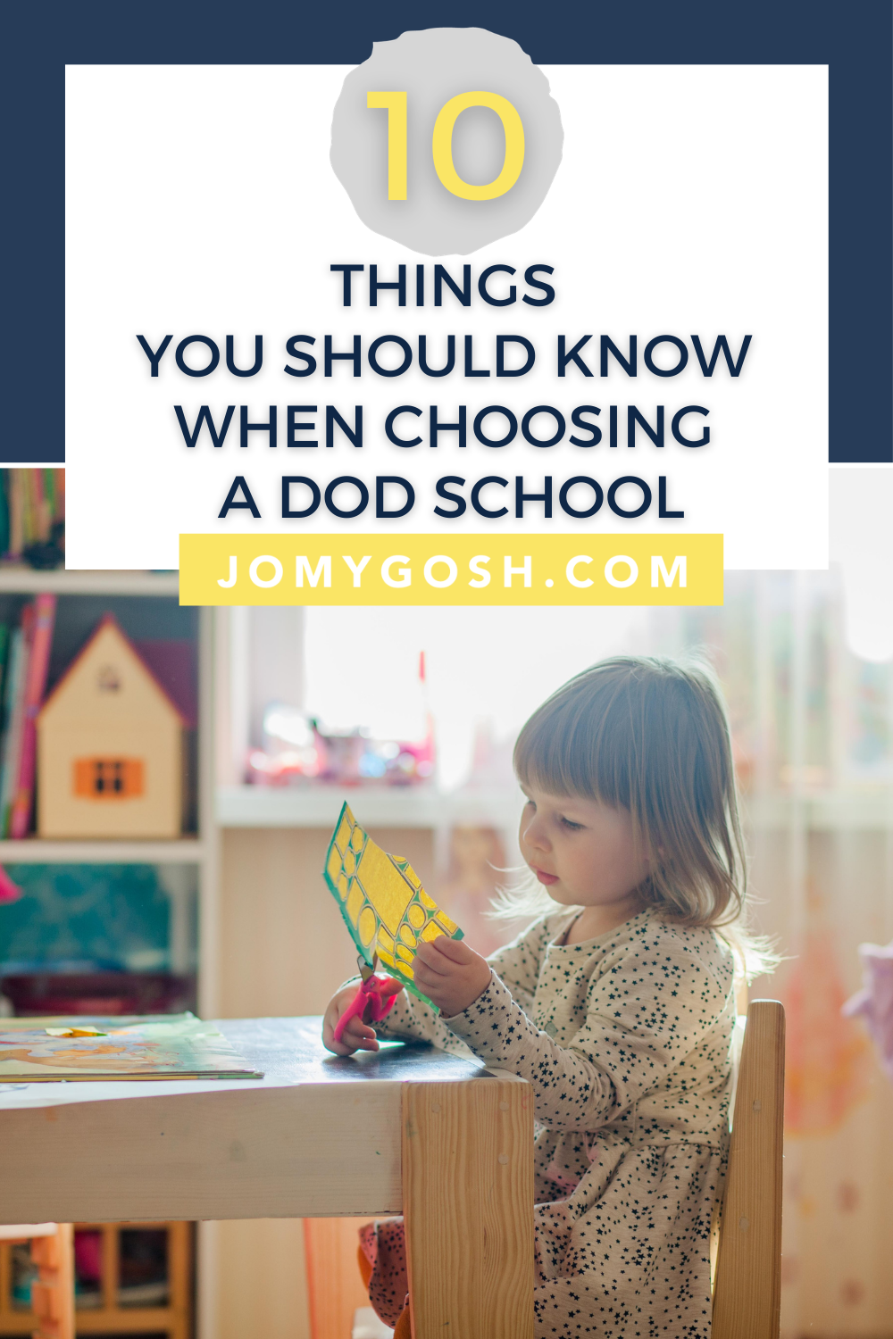 For military families, choosing whether their children will attend a DoD school is a big decision. Here's absolutely what you need to know about your military child's education at a DoDEA school #military #pcs #oconus #militaryfamily #milfam #militarychild #militarybrat