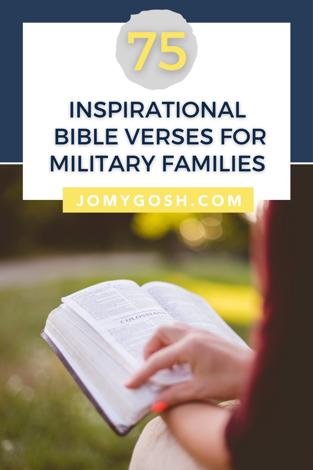 Use these inspiring bible verses to find calmness, inspiration, and meaning in military life. #christianity #christian #bible #bibleverse #bibleverses #milfam #militaryfamily #inspiring #inspiration #militarylife #military